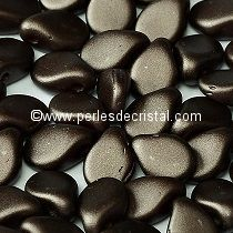 50 PIP 5X7MM EN VERRE COLORIS PASTEL DARK BROWN BRONZE - 02010/25036
