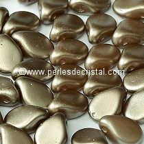 50 PIP BEADS 5X7MM GLASS COLOURS PASTEL LIGHT BROWN COCO - 02010/25005
