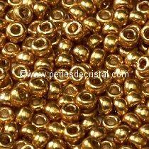 8gr PERLES ROCAILLES DURACOAT MIYUKI 15/0 - 1MM GALVANIZED DURACOAT GOLD/DORE/OR 4202