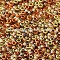 8gr SEED BEADS MIYUKI 15/0 - 1MM COLOURS BLACK CALIFORNIA GOLD RUSH MATTED 55046