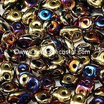 10GR SUPERDUO 2.5X5MM GLASS COLOURS JET CALIFORNIA VIOLET / PURPLE 23980/98545