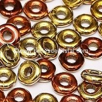 5GR O BEAD® 4X2MM EN VERRE COLORIS CALIFORNIA GOLDEN RUSH 23980/98542