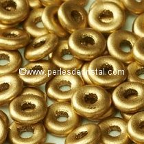 5GR O BEAD® 4X2MM EN VERRE COLORIS LIGHT GOLD MAT - DORE - OR 01710