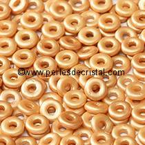 5GR O BEAD® 4X2MM GLASS COLOURS PASTEL AMBER 02010/25003