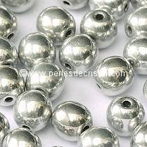 25 SMOOTH ROUND BEADS 6MM SILVER 00030/27000 LABRADOR FULL