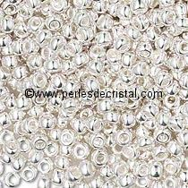 5gr BEADS MIYUKI DURACOAT 15/0 - 1MM COLOURS SILVER PLAQUE (=DB0551) - 961 - Bright Sterling Plate