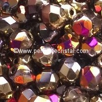 50 BOHEMIAN GLASS FIRE POLISHED FACETED ROUND BEADS 4MM CALIFORNIA PURPLE - 00030/98545