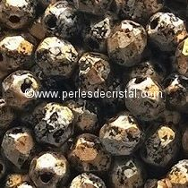 50 FACETTES 4MM CRISTAL VERRE DE BOHEME TWEEDY GOLD 23980/45704 DORE