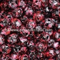 50 FACETTES 4MM CRISTAL VERRE DE BOHEME TWEEDY PINK 23980/45708 - ROSE