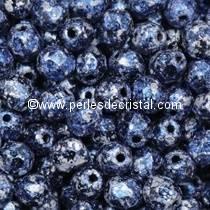 50 FACETTES 4MM CRISTAL VERRE DE BOHEME TWEEDY BLUE - 23980/45706 BLEU