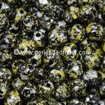 50 FACETTES 4MM CRISTAL VERRE DE BOHEME TWEEDY YELLOW 23980/45701 - JAUNE