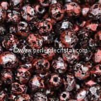 50 FACETTES 4MM CRISTAL VERRE DE BOHEME TWEEDY RED 23980/45705 ROUGE