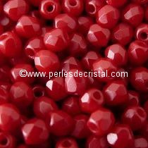 50 BOHEMIAN GLASS FIRE POLISHED FACETED ROUND BEADS 3MM COLOURS PASTEL DARK CORAL 02010/25010