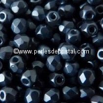 50 BOHEMIAN GLASS FIRE POLISHED FACETED ROUND BEADS 3MM COLOURS PASTEL MONTANA BLUE 02010/25042