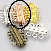 Beautiful magnetic clasp, to 3 rows colors PINK - GOLD 27X17X7