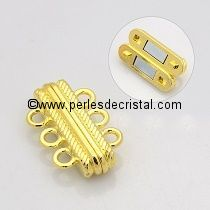 Beautiful magnetic clasp to 3 rows colors GOLD 27X17X7