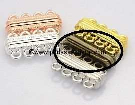 Beautiful magnetic clasp to 4 rows colors BRONZE 30X17X7