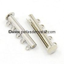 Magnetic clasp and sliding 5 rows - colors SILVER - 31x5mm