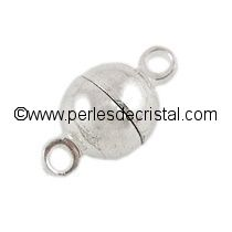Magnetic clasp, small ball - color SILVER - 11.5X6MM