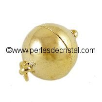 Magnetic clasp, ball - color GOLD - 11X10MM