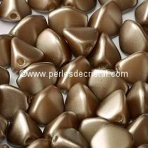 50 PINCH 5X3MM EN VERRE COLORIS PASTEL LIGHT BROWN COCO 02010/25005