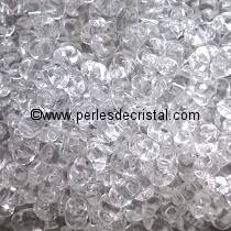 10GR MINIDUO® 2X4MM GLASS COLOURS CRYSTAL 00030