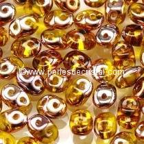 10GR SUPERDUO 2.5X5MM GLASS COLOURS AMBER CAPRI GOLD 80020/27101