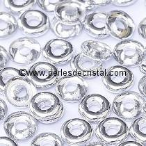 5GR O BEAD® 4X2MM EN VERRE COLORIS CRYSTAL LABRADOR 00030/27001 ARGENT LIGHT CAL