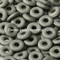 5GR O BEAD® 4X2MM GLASS COLOURS OPAQUE GREY SILK MAT 02010/29566