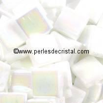 5GR PERLES TILAS MIYUKI 5X5MM WHITE PEARL AB TL-0471 / BLANC NACRE AB