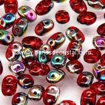 10GR SUPERDUO 2.5X5MM EN VERRE COLORIS RUBY SLIPERIT 90080/29500