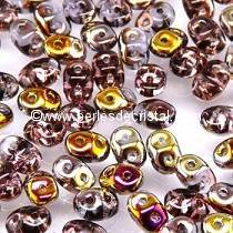 10GR SUPERDUO 2.5X5MM GLASS COLOURS AMETHYST SLIPERIT 20060/29500