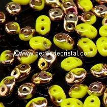 10GR SUPERDUO 2.5X5MM GLASS COLOURS OPAQUE JONQUIL CAPRI GOLD 83120/27101