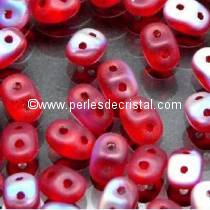 10GR SUPERDUO 2.5X5MM GLASS COLOURS RUBY MAT AB 90080/28771