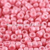 10GR ROCAILLE MATUBO 8/0 - 3MM - COULEUR PASTEL PINK 02010/25008 - ROSE