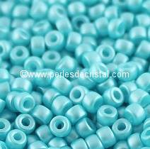 10GR MATUBO Czech Glass Seed Beads 8/0 (3mm)- COLOURS PASTEL AQUAMARINE 02010/25019 - BLUE