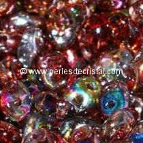 10GR MINIDUO® 2X4MM EN VERRE COLORIS CRYSTAL MAGIC RED BROWN 00030/95200