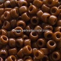 10GR ROCAILLE MATUBO 8/0 - 3MM COULEUR OPAQUE CHOCOLATE 13600 - MARRON