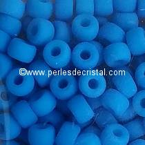 10GR MATUBO Czech Glass Seed Beads 8/0 (3mm) AQUAMARINE NEON MAT 02010/25127