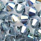 50 TOUPIES 4MM CRISTAL SWAROVSKI COLORIS INDIAN SAPPHIRE SATIN #5301