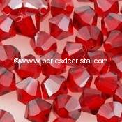 50 BICONES 4MM CRISTAL SWAROVSKI COLOURS LIGHT SIAM SATIN #5301