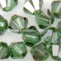 50 TOUPIES 4MM CRISTAL SWAROVSKI COLORIS ERINITE SATIN #5301