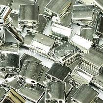 5GR TILAS MIYUKI 5X5MM GLASS BEADS COLOURS CRYSTAL LABRADOR FULL - SILVER TL-55006