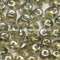 100GR SUPERDUO 2.5X5MM GLASS COLOURS BLACK DIAMOND LUSTER 40020/14400