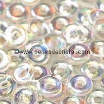 5GR O BEAD® 4X2MM GLASS COLOURS CRYSTAL AB 00030/28701