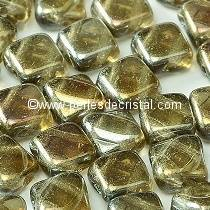 50 SILKY BEADS 6X6MM LOSANGE COLORIS BLACK DIAMOND FULL CLARIT 40020/22903
