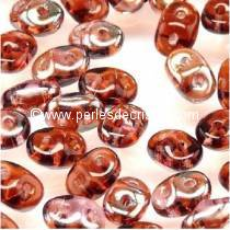 10GR SUPERDUO 2.5X5MM EN VERRE COLORIS AMETHYST CELSIAN 20060/22501