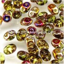 10GR SUPERDUO 2.5X5MM GLASS COLOURS OLIVINE CELSIAN 50230/22501