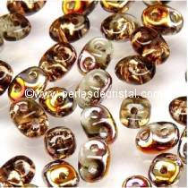 10GR SUPERDUO 2.5X5MM GLASS COLOURS BLACK DIAMOND SLIPERIT 40020/29500