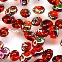 10GR SUPERDUO 2.5X5MM GLASS COLOURS HYACINTH VITRAIL
